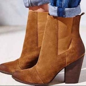Joe's Jeans Blare suede pull on bootie almond toe
